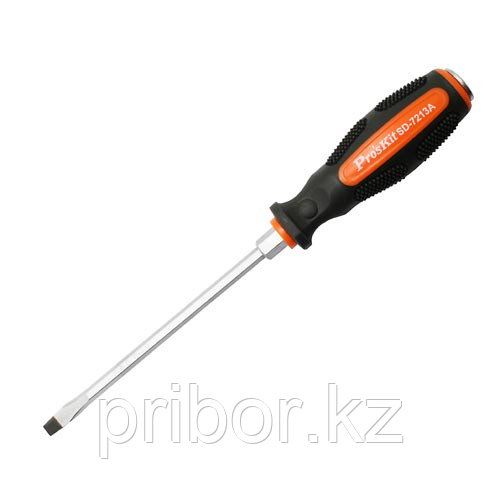 Отвертка ударная шлицевая -6.0х150мм Pro`skit SD-7213A