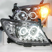 TOYOTA HILUX VIGO LED Head Light LED Angel Eyes 2004-2010 year Chrome Housing