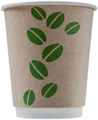 DW80-280 Стакан бумажный одноразовый двухслойный 250 мл. (DW175г/м2, 4457, 0322 Coffee Bean Крафт  D