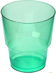 Стакан д/хол 0,2л, Кристалл, ПС, зеленый, 50 шт/уп, 1000 в