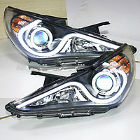 Передние фары Sonata Angel Eyes LED head lamp 2009-12 Type 2
