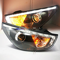 Передние фары Tucson IX35 LED Stirp Angel Eyes Head Lamp 2009-13