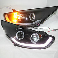 Передние фары Tucson IX35 LED Head Lamp Angel Eyes 09-13
