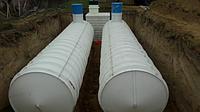 Емкость V=7 куб, резервуар для воды цилиндрический из полипропилена