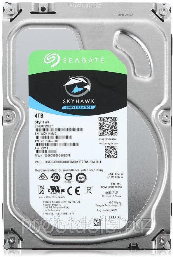 "Жесткий диск для видеонаблюдения 4Tb Seagate SkyHawk SATA3 3.5"" 64Mb ST4000VX007"