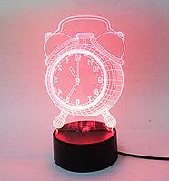 3D светильник, будильник