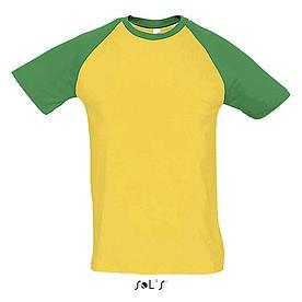 Футболка | Sols Funky L желто-зеленый