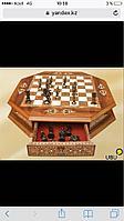 Шахматы из натурального дерева, шахматы ручной работы