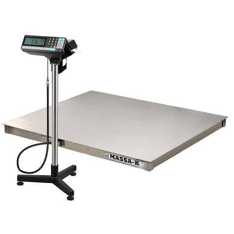 Весы регистраторы платформенные из нержавеющей стали с печатью этикеток 4D P.S 2 RP c НПВ на 1000кг, 1500кг, фото 2