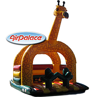 Надувной большой батут Жираф-мини