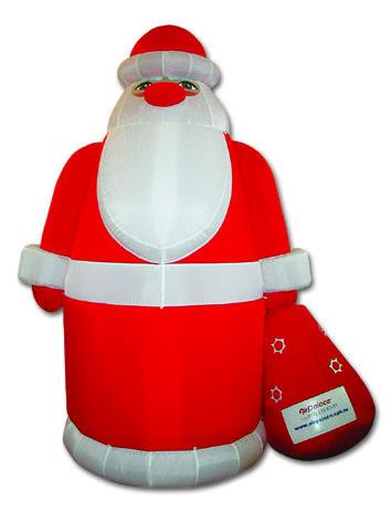 Надувная фигура Дед мороз 6 м