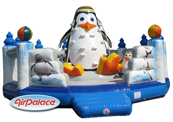 Надувной большой детский батут Пингвин
