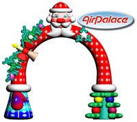 Надувная арка новогодняя