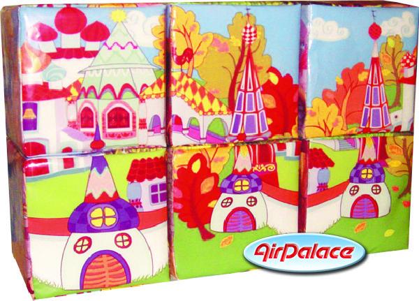 Кубики В гостях у сказки - мягкий пазл с картинками