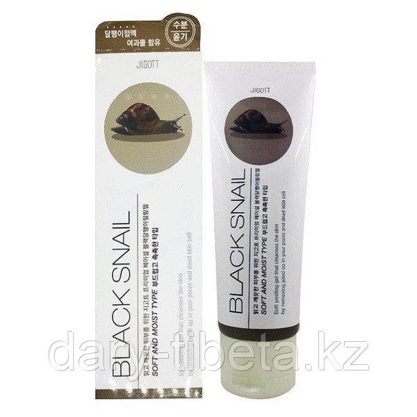 Jigott Premium facial Black Snail Peeling Gel-Премиум Пилинг -Скатка с экстрактом слизи черной улитки
