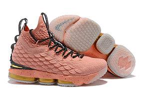 "Баскетбольные кроссовки Nike Lebron 15 (XV) from LeBron James ""Pink"", фото 2"