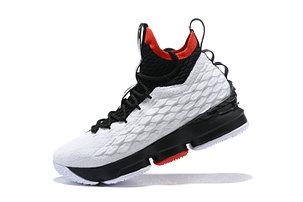 "Баскетбольные кроссовки Nike Lebron 15 (XV) from LeBron James  ""white /black"", фото 2"