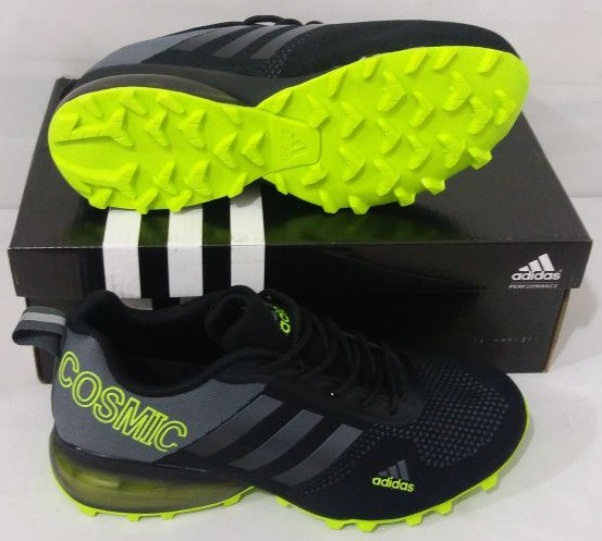 Кроссовки Adidas Cosmic Band Air Grey/Black/Green размеры 40-44