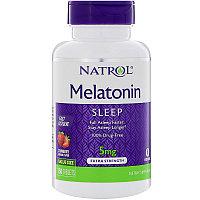 Natrol, Мелатонин, быстрорастворимый, клубника, 5 мг, 150 таблеток, фото 1