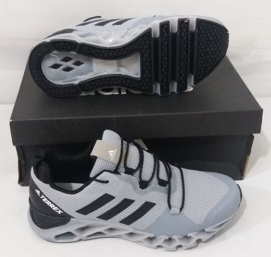Кроссовки Adidas Terrex Gray Black White