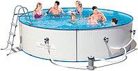 Круглый стальной бассейн Bestway 56607 Hydrium Splasher Pool Set 488*107