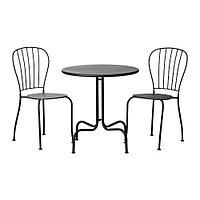 Стол+2стула, д/сада ЛЭККЭ серый ИКЕА, IKEA