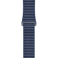 Ремешок apple watch 42mm midnight blue leather loop m