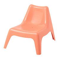 Кресло детское садовое БУНСЁ бледно-оранжевый ИКЕА, IKEA, фото 1