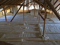 Утепление крыши пеной