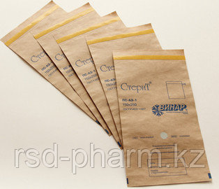 Самоклеящиеся пакеты для стерилизации из крафт-бумаги, «СтериТ®», 100 шт в уп, фото 2