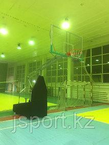 профессиональная баскетбольная стойка, мобильная, складная для Казахского Национального медицинского университета имени С. Д. Асфендиярова
