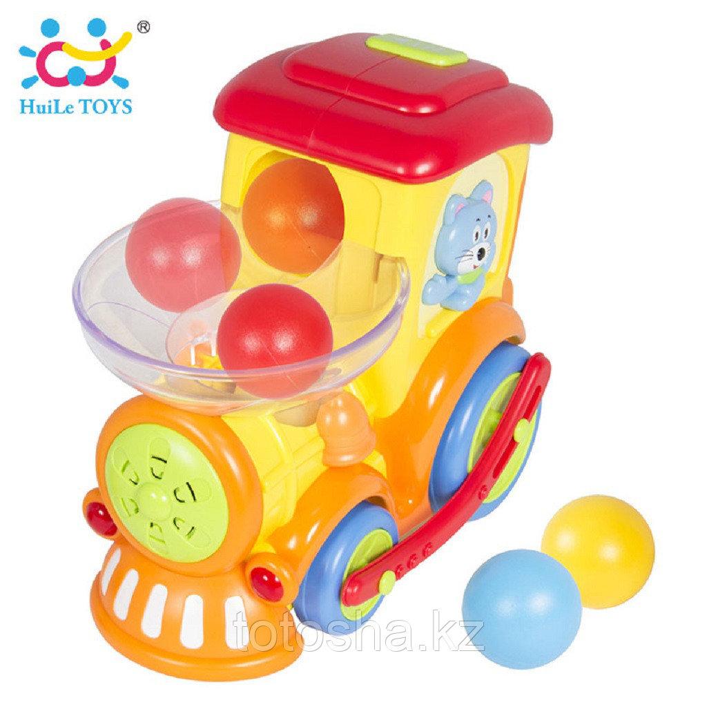 Huile Toys Забавный паровозик Ту-Ту