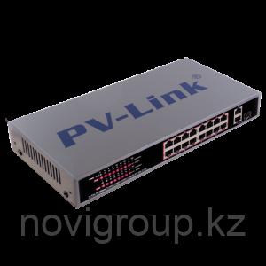 PV-Link PV-POE16G2F1 - 16 х LAN с POE 2 x LAN 1 x SFP (Гигабитные порты LAN и SFP не используются одновременно