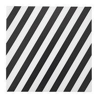 ПИПИГ Салфетка под приборы, в полоску, черный/белый