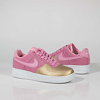 Кроссовки Nike Air Force 1 Pink and Gold