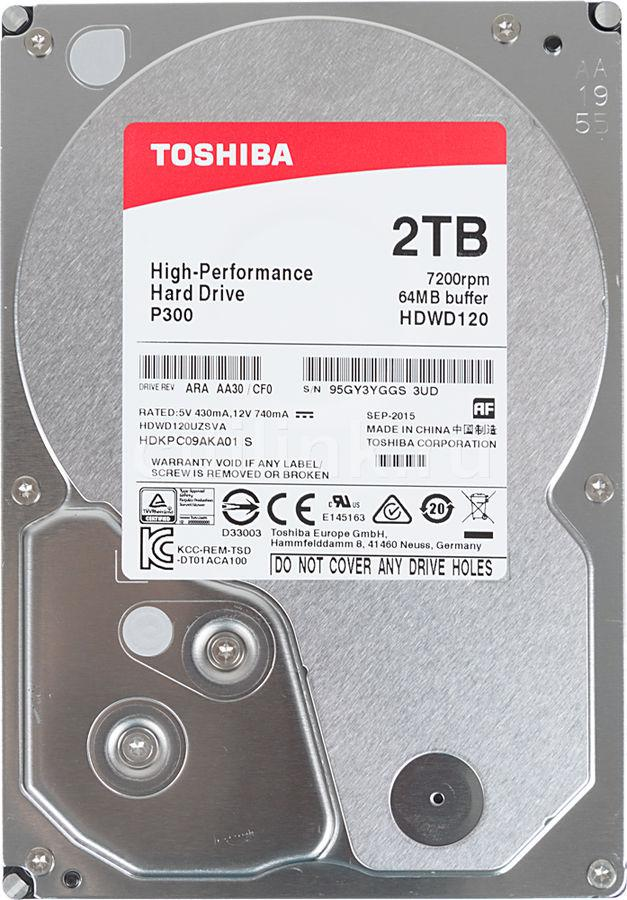 Жесткий диск TOSHIBA HDWD120UZSVA P300 High-Performance 2ТБ