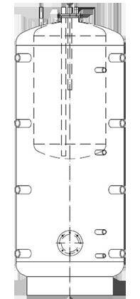 Бак ВТА/Н-2 1500/770 л