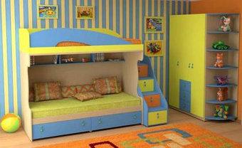Детские кровати: двухъярусные кровати, односпальные кроватки, фото 3