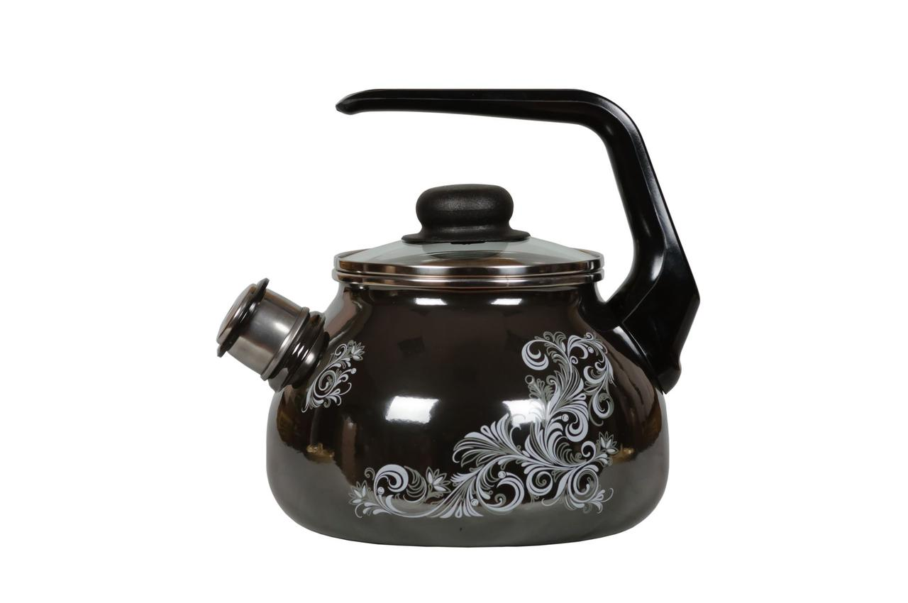 Чайник эмалированный со свистком Iseberg 3 литра