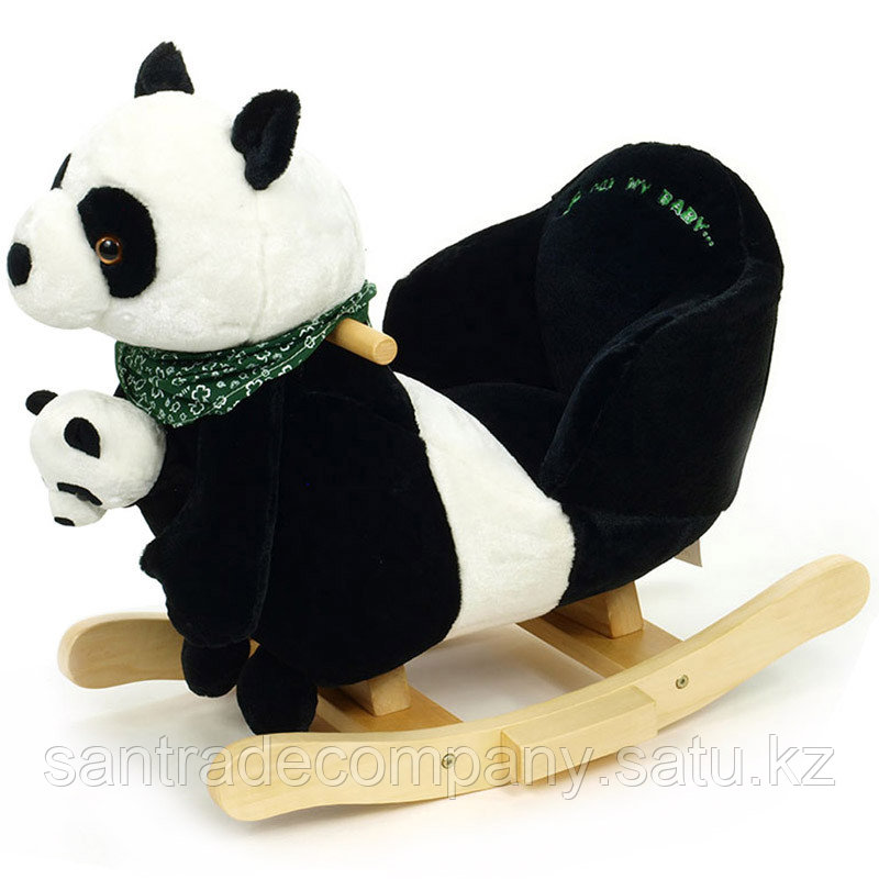 Rock my Baby,Качалка меховая панда JR2591B