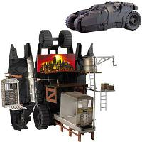 Mattel Batman Begins Transforming Gotham City Машина Бэтмена Трансформация города Готэм