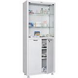 Медицинский шкаф двухстворчатый MD 2 1780/SG (1850х800х400 мм)