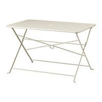 Стол складной САЛЬТХОЛЬМЕН бежевый ИКЕА, IKEA, фото 1