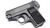 Пистолет металлический Airsoft Gun Metal C1 черный, с пластик. пульками 6 мм