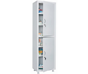 Медицинский шкаф одностворчатый MD 1 1657/SS (1755х570х320 мм)