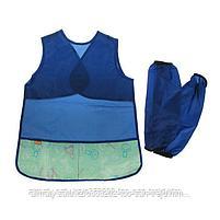 Комплект для творчества:фартук-накидка и нарукавники из водонепроницаемой ткани для мальчиков Витоша, фото 2