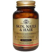 Solgar, Кожа, Ногти и Волосы, улучшенная формула с  MSM 60 таблеток. 6400/60 шт. 13000/120 шт