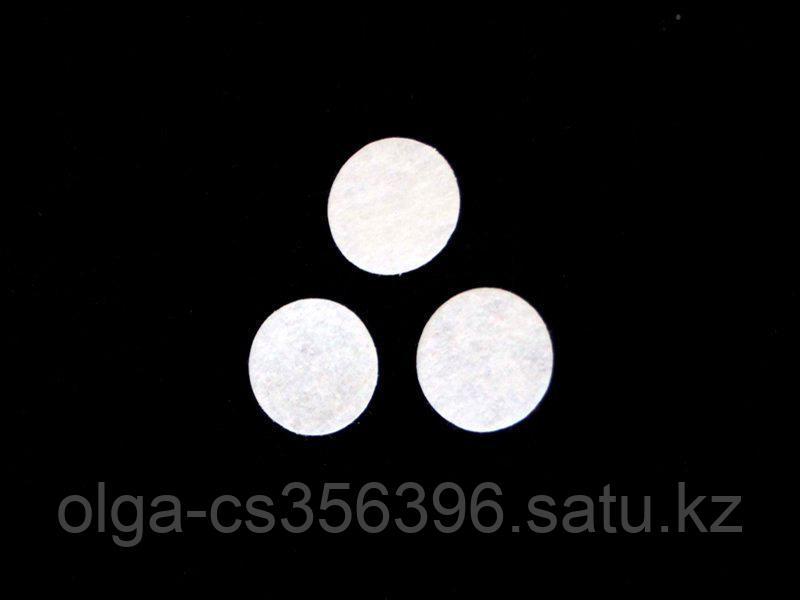 Фетровые пяточки (цвет белый) 35 мм. Creativ 817 - 2