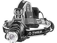 """Фонарь ЗУБР """"ПРОФИ"""" налобный светодиодный, 6Вт(450Лм), регулируемый фокус, 3 режима, трансформер, 4АА"""