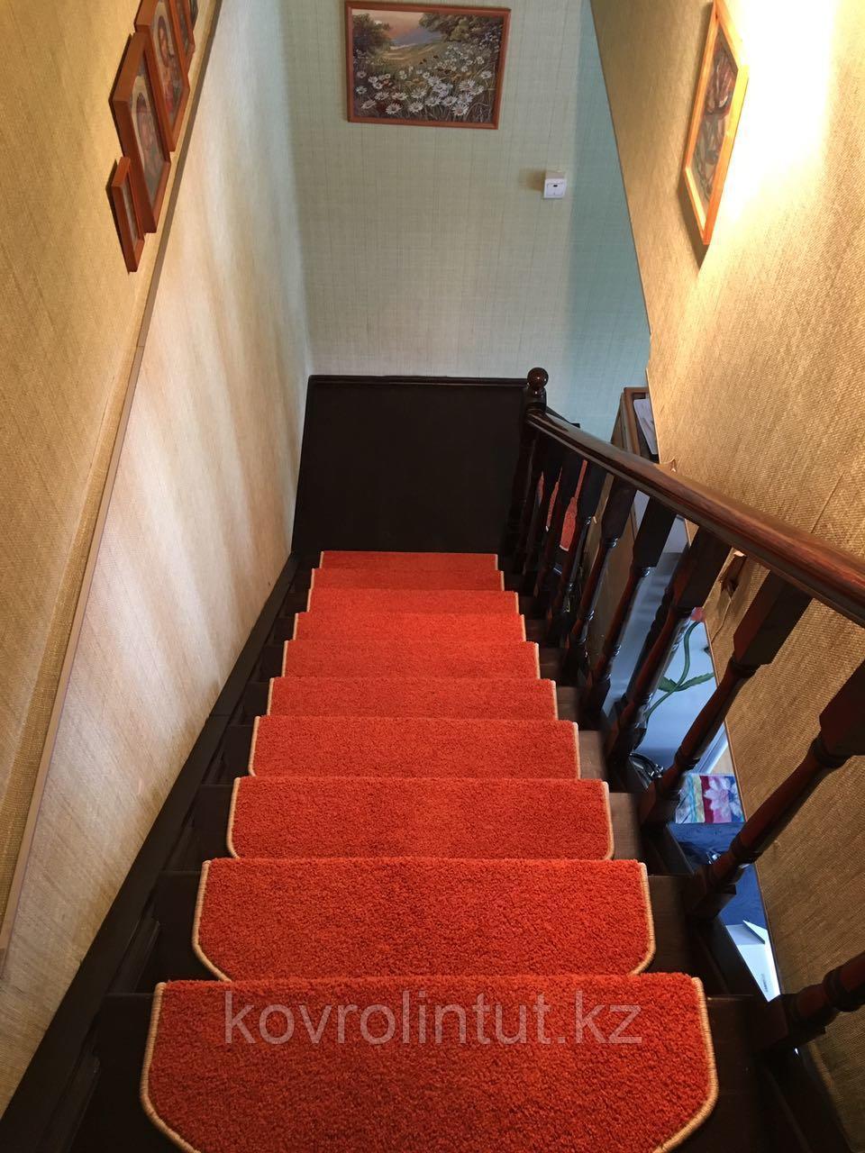 Коврики для лестниц Ангара оранжевый26x70  в розницу